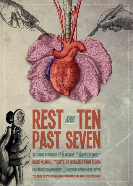 REST and TEN PAST SEVEN